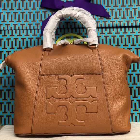 429d29ecbc25 NWT TORY BURCH BOMBE T SLOUCHY SATCHEL TOTE BAG
